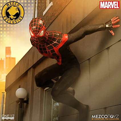 Amazon.com: Mezco One:12 Collective Ultimate Spider-Man Miles ...