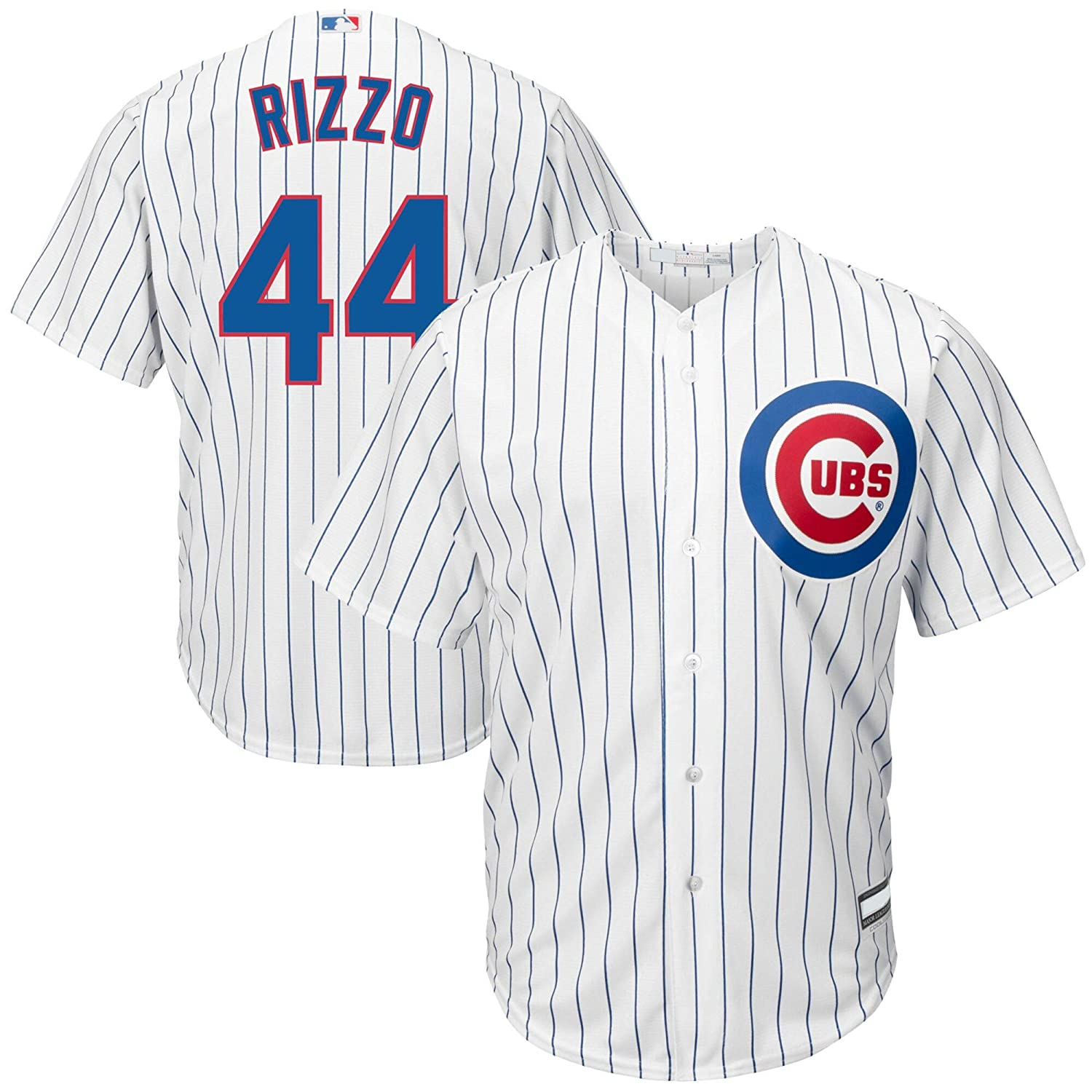 OuterStuff Anthony Rizzo Chicago Cubs MLB Boys Youth 8-20 Player Jersey