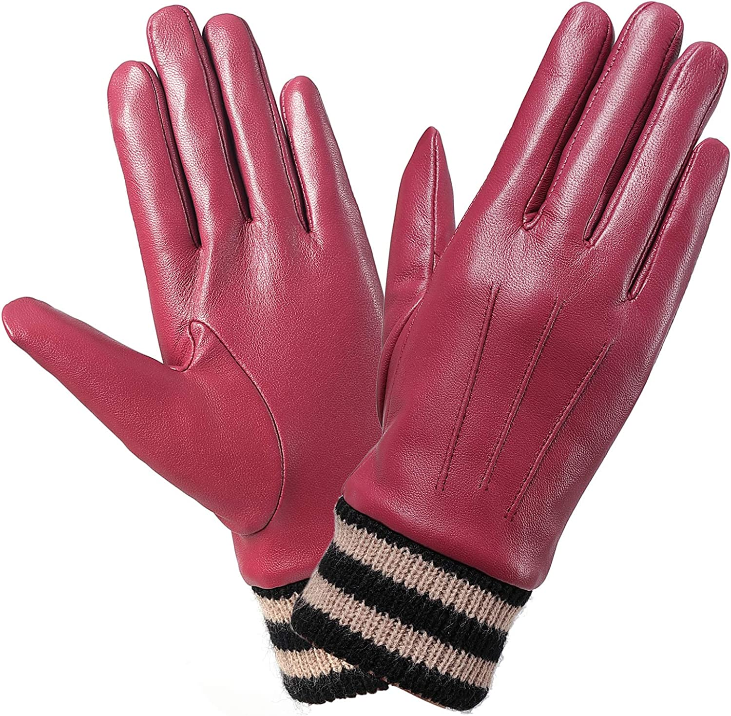 Leather Gloves With 3M...