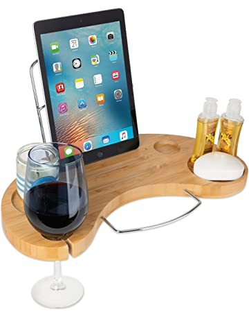 Bathroom Hardware Original Bamboo Bathroom Tray Telescoping Bathtub Desk For Phone Laptop Notebook Wine Glasses Candles Bathroom Shelf Home Improvement