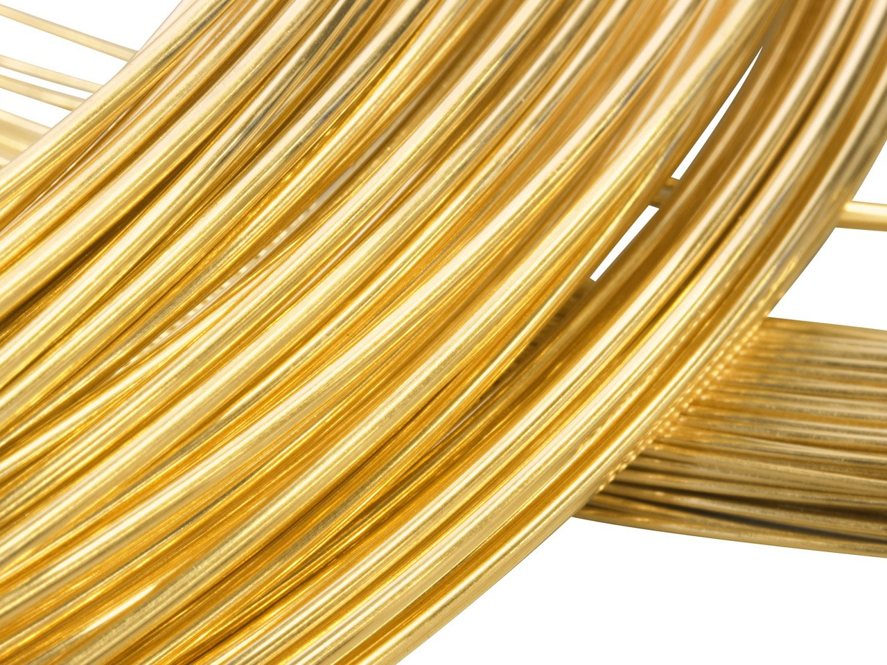 Solid 14 K Yellow Gold, Round Wire, 26 Gauge, 1 foot, half hatd