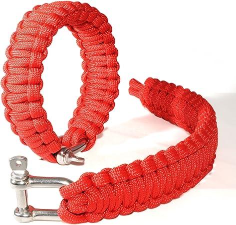 2er SET ganzoo Survival-cuerda (compacto trenzada para Pulsera) de