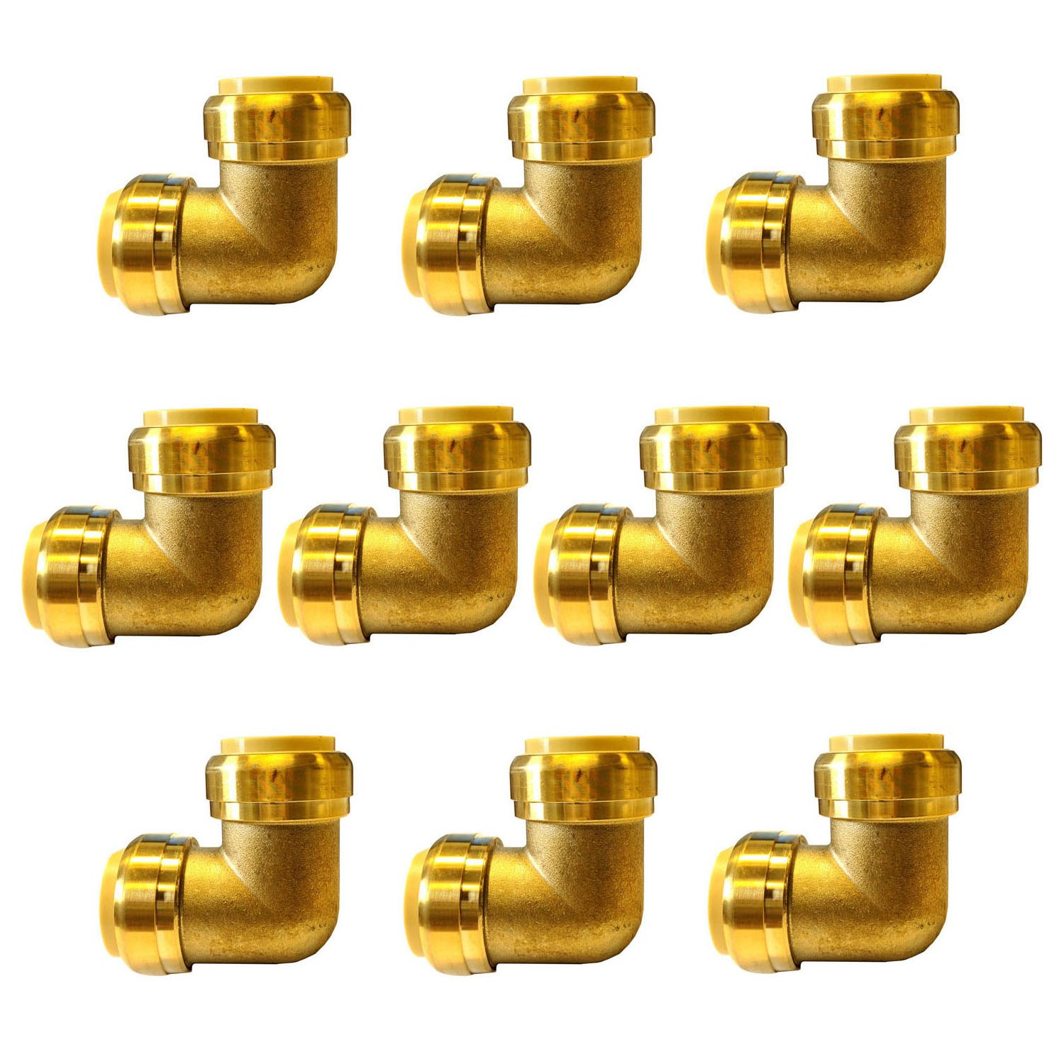 1 2 Push Fit Elbow Fitting 90 Degree Lead Free Brass Push To