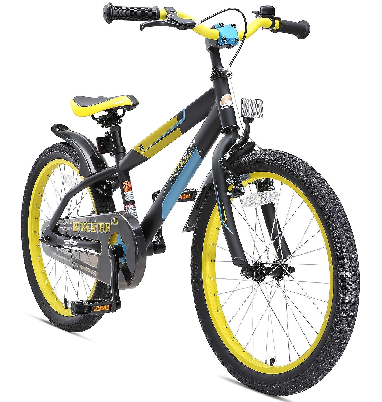 BIKESTAR Premium Sicherheits Kinderfahrrad 20 Zoll für Mädchen und Jungen ab 6 Jahre   20er Kinderrad Mountainbike   Fahrrad für Kinder