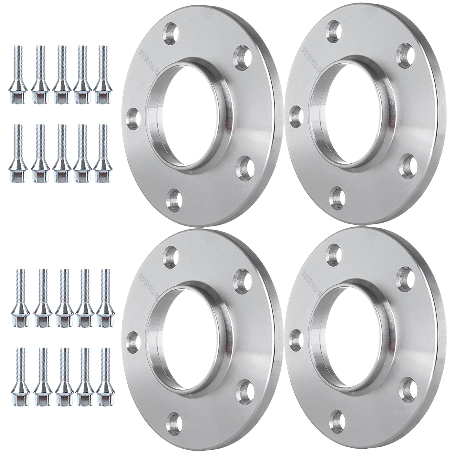 5x120 72.56 Fits BMW with Lug Bolts 12x1.5,40mm Shank ECCPP 5x120 Hubcentric Wheel Spacers 4X 10mm 1//2