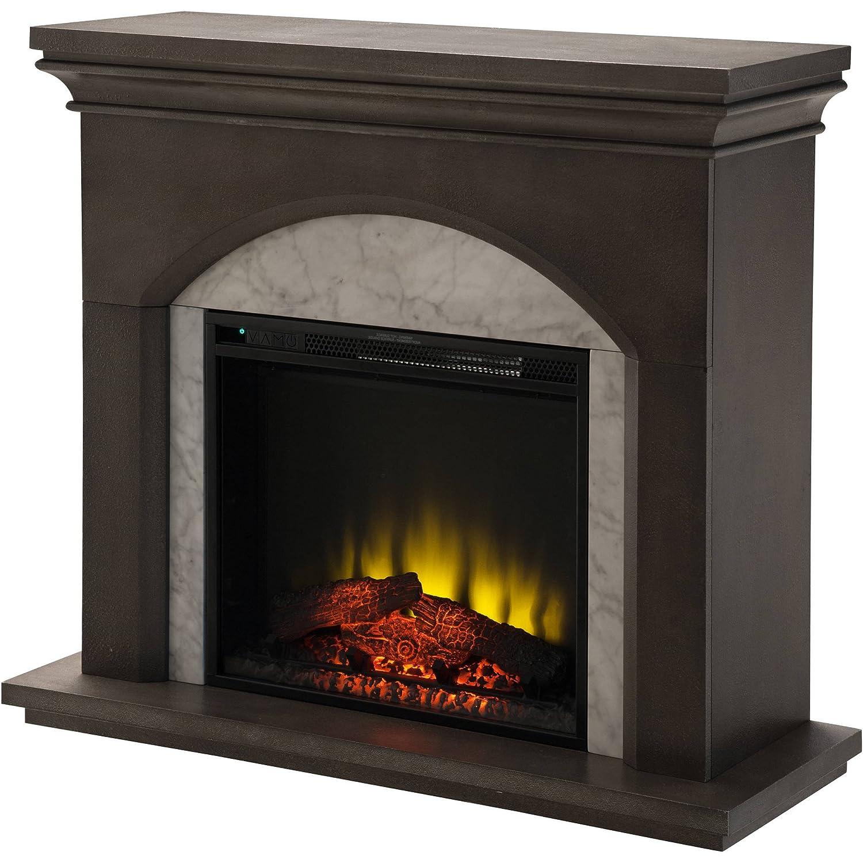 amazon com prokonian electric fireplace with 41