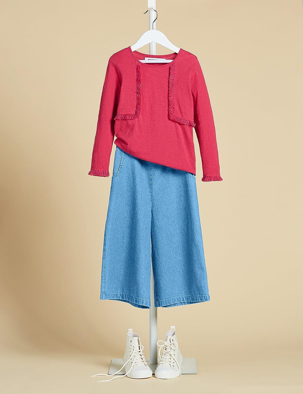 RED WAGON Pantaloni in Chambray Modello Cropped Bambina Marchio