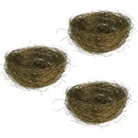 BESTOYARD 3Pcs Easter Egg Nests Colored Thread Artificial Bird Nests for Candies Eggs (Coffee)