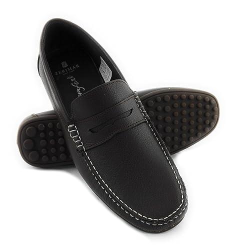 Zerimar Mocasin de Piel Para Hombre Zapatos Hombre Mocasines Calzado Hombre Vestir Color Marron Talla 43: Amazon.es: Zapatos y complementos