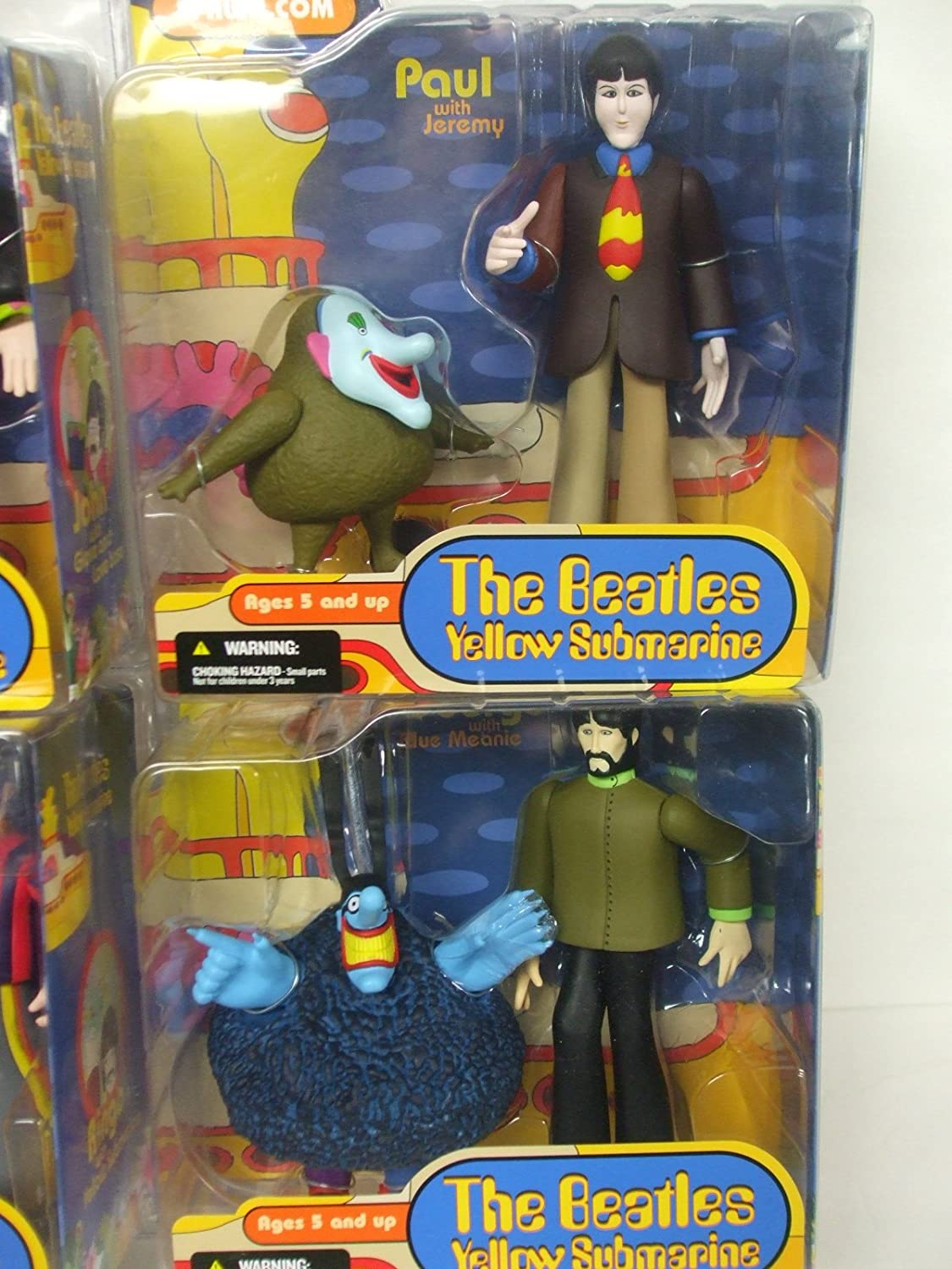 Yellow Submarine Animated Series 2nd Version Figures in Blister Packages Mc Farlane Toys McFarlane Toys The Beatles