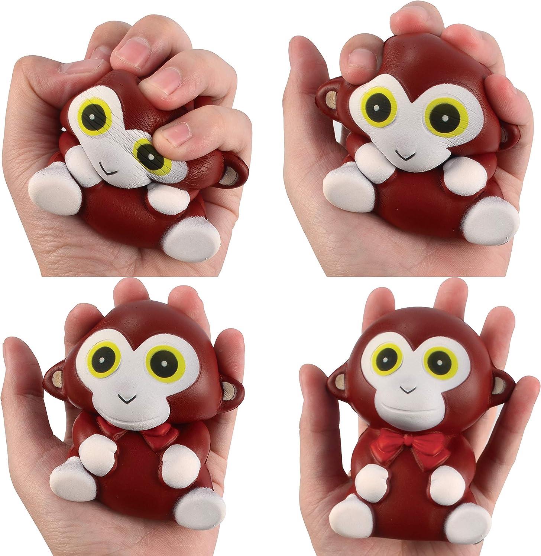 JOYIN 6 St/ück Squishy Spielzeug Tiere Squisies Set Langsam Stressabbau Soft Squeeze Toys f/ür Kawaii Party Kinder Erwachsene