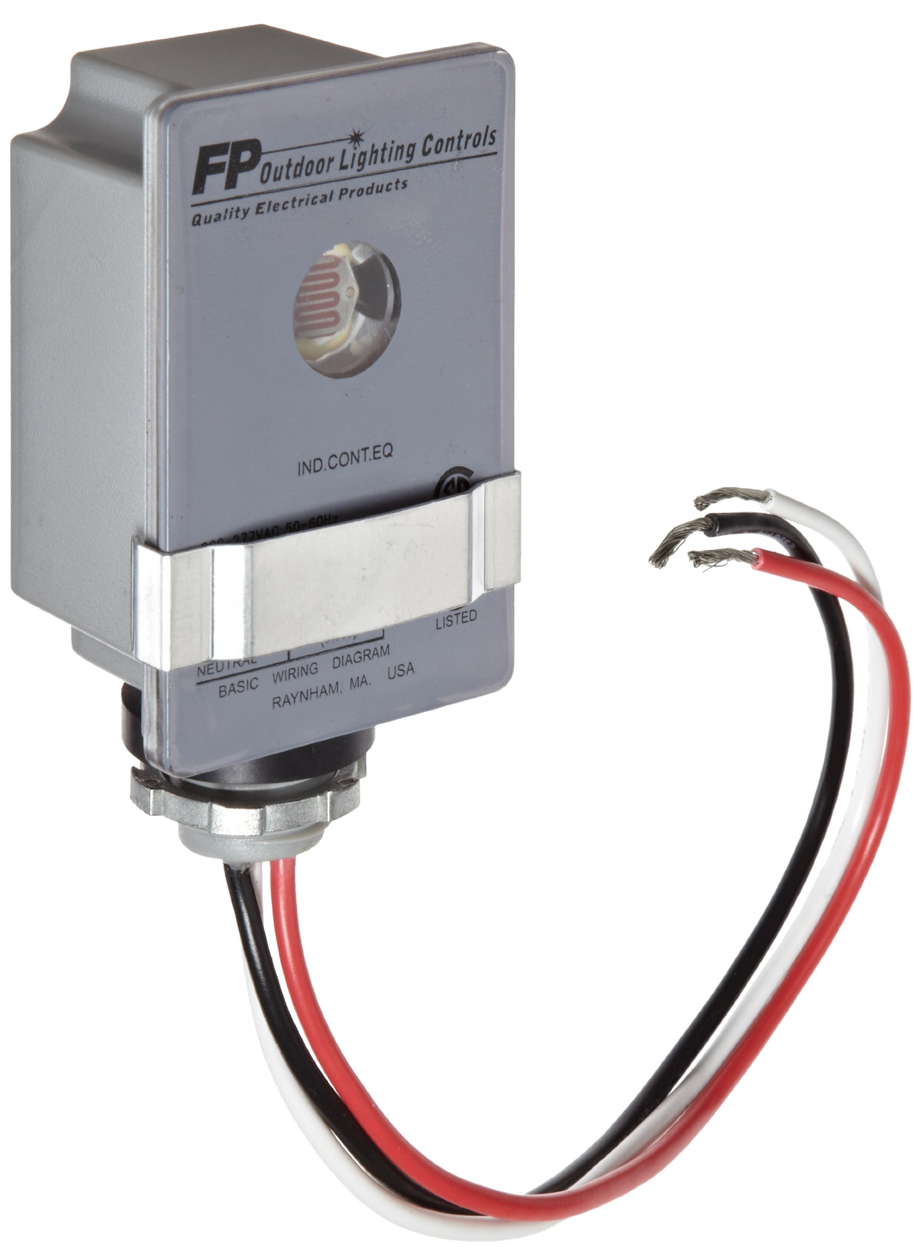 Morris Products 39012 Photocontrols Fixed Base, 2000W Tungsten Rating, 1000 (VA) Ballast Rating, 208-277 Voltage