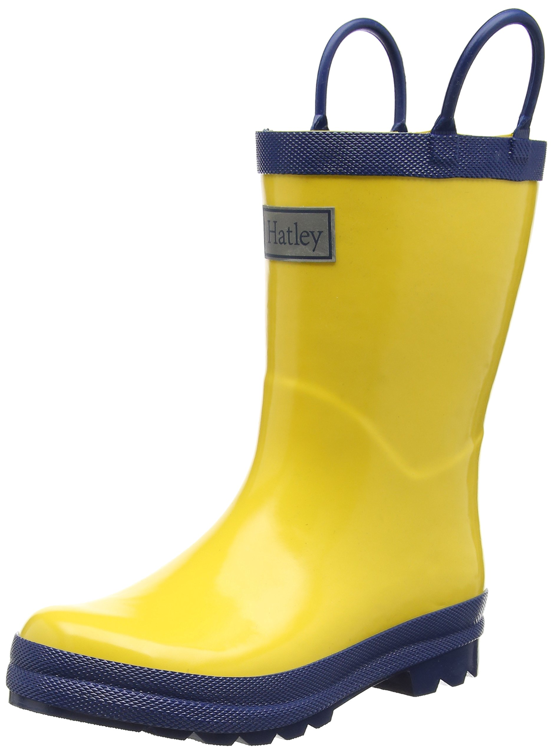 Hatley Kids' Classic Rain Boots Accessory, Yellow & Navy, 12 US Child