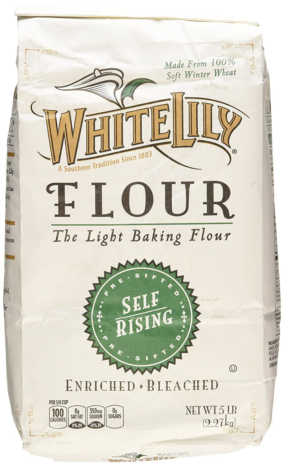 White Lily Self Rising Flour, 5-lb bags, 2-Pack