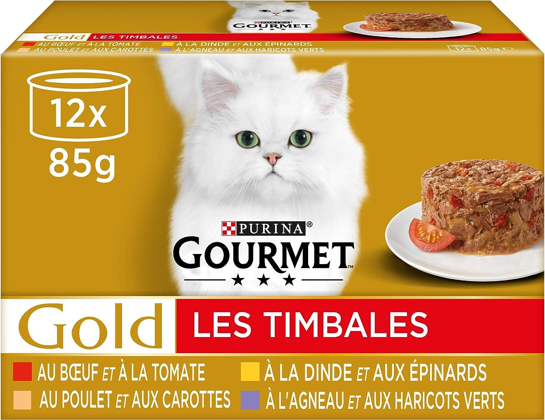 lot de repas 96 (8x12) repas pour chat Purina Gourmet en promo