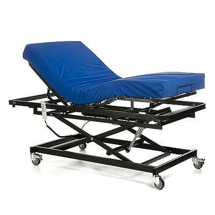 GERIALIFE® Cama articulada geriátrica hospitalaria con carro elevador (105x190 con colchon)