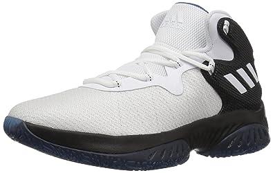 26d13b37ec480 adidas Boy s Explosive Bounce Basketball Shoe Black White Capital Blue (4 M  US