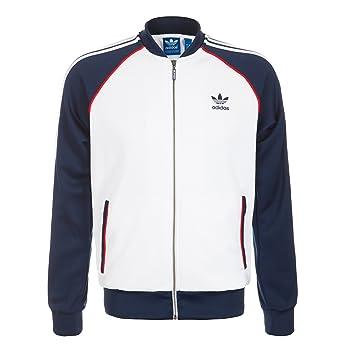Adidas Originals Superstar Men s Track Jacket White Collegiate Navy s19173  (Size S)  Amazon.ca  Sports   Outdoors 575ea8bf9