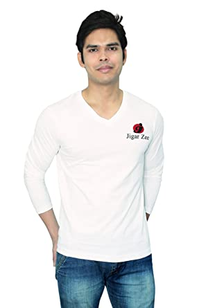 JigarZee V-Neck T-Shirt for Mens   Boys  42928ecce