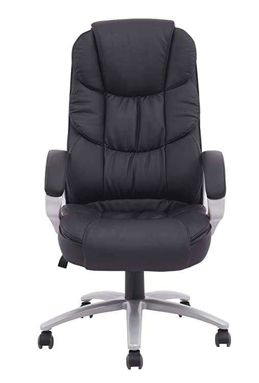 High Back Executive Leather Ergonomic Office Desk Computer Chair O10-Comfortable, soft PU leather upholstery with ample padding