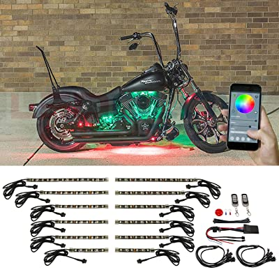 LEDGlow 12pc Advanced Million Color SMD LED Motorcycle Accent Underglow Light Kit