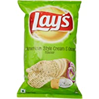 Lay's Potato Chips American Style Cream and Onion Flavour Pack, 90g