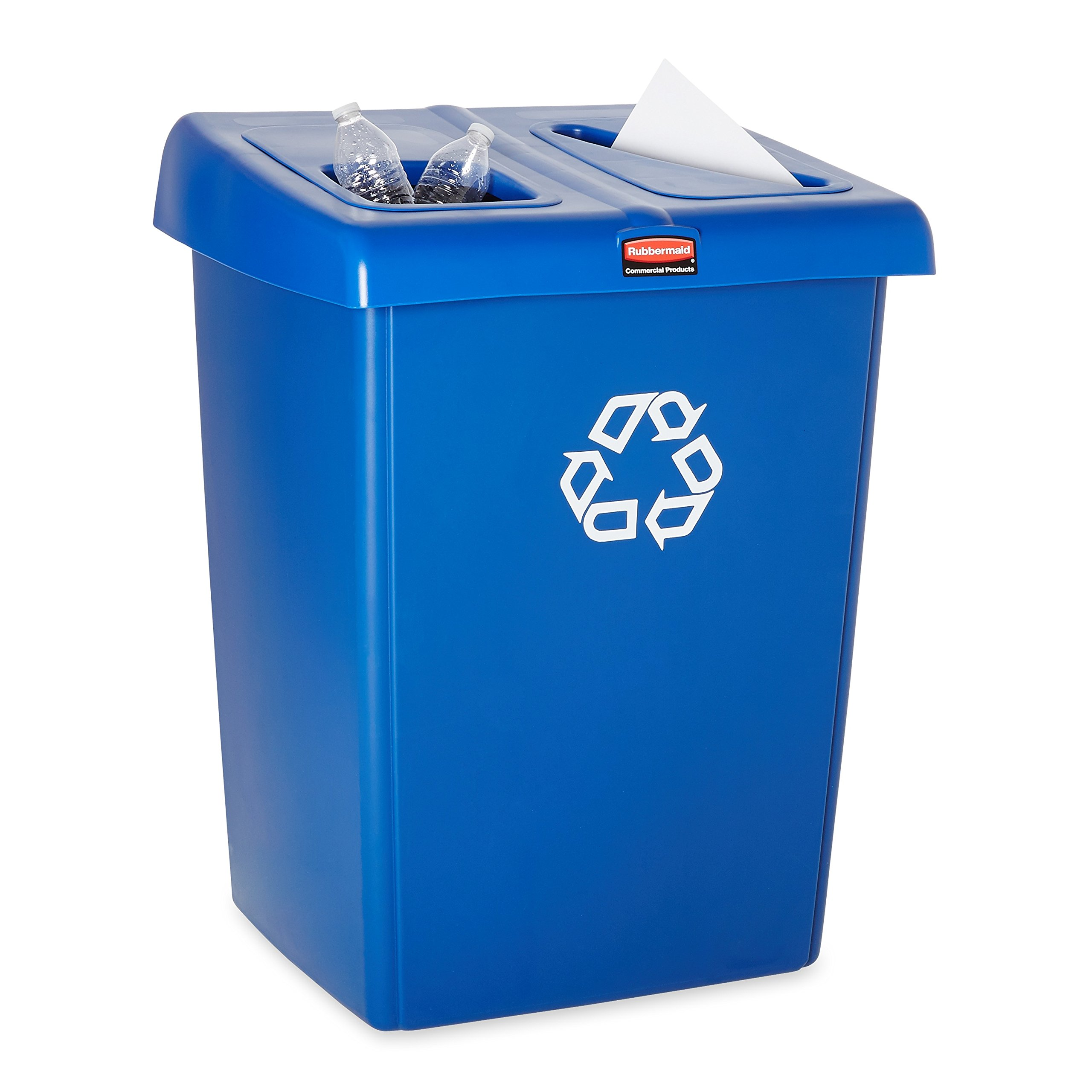 Rubbermaid Commercial 1792339 Glutton Recycling Station, 2-Stream, 46-Gallon, Blue by Rubbermaid Commercial Products (Image #7)