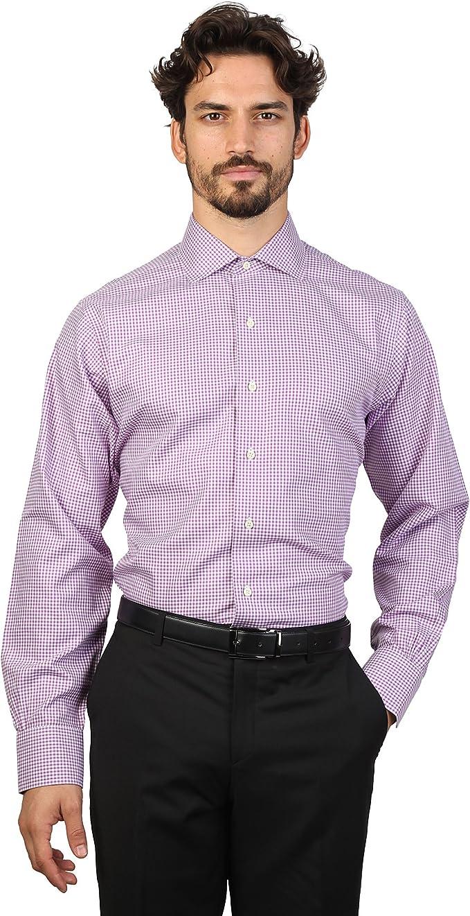 Brooks Brothers - Camisa entallada y cuello ingles caballero ...