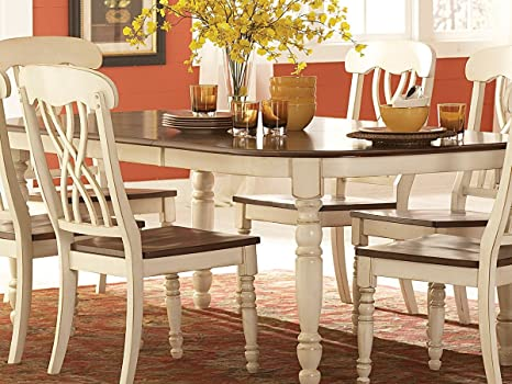 Amazon Com Home Elegance Ohana Dining Table By In 2 Tone Antique