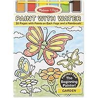 Melissa & Doug - Juego de pintura con agua (20 páginas), diseño de jardín