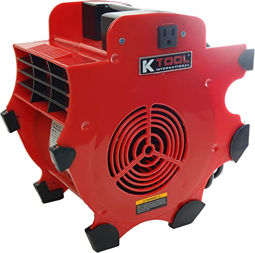 K Tool International Industrial Fan Blower Cooling, Ventilating, Exhausting and Drying, 3 speeds 4-Position, Indoor or Outdoor Use, 180W, 300 CFM KTI77702