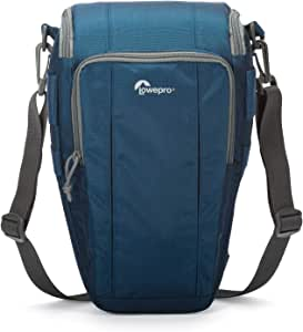 Lowepro Toploader Zoom 55 AW II Get Solid Protection for A Day of Outdoor, Travel Or Sports Shooting, Blue, (LP36705-0WW)