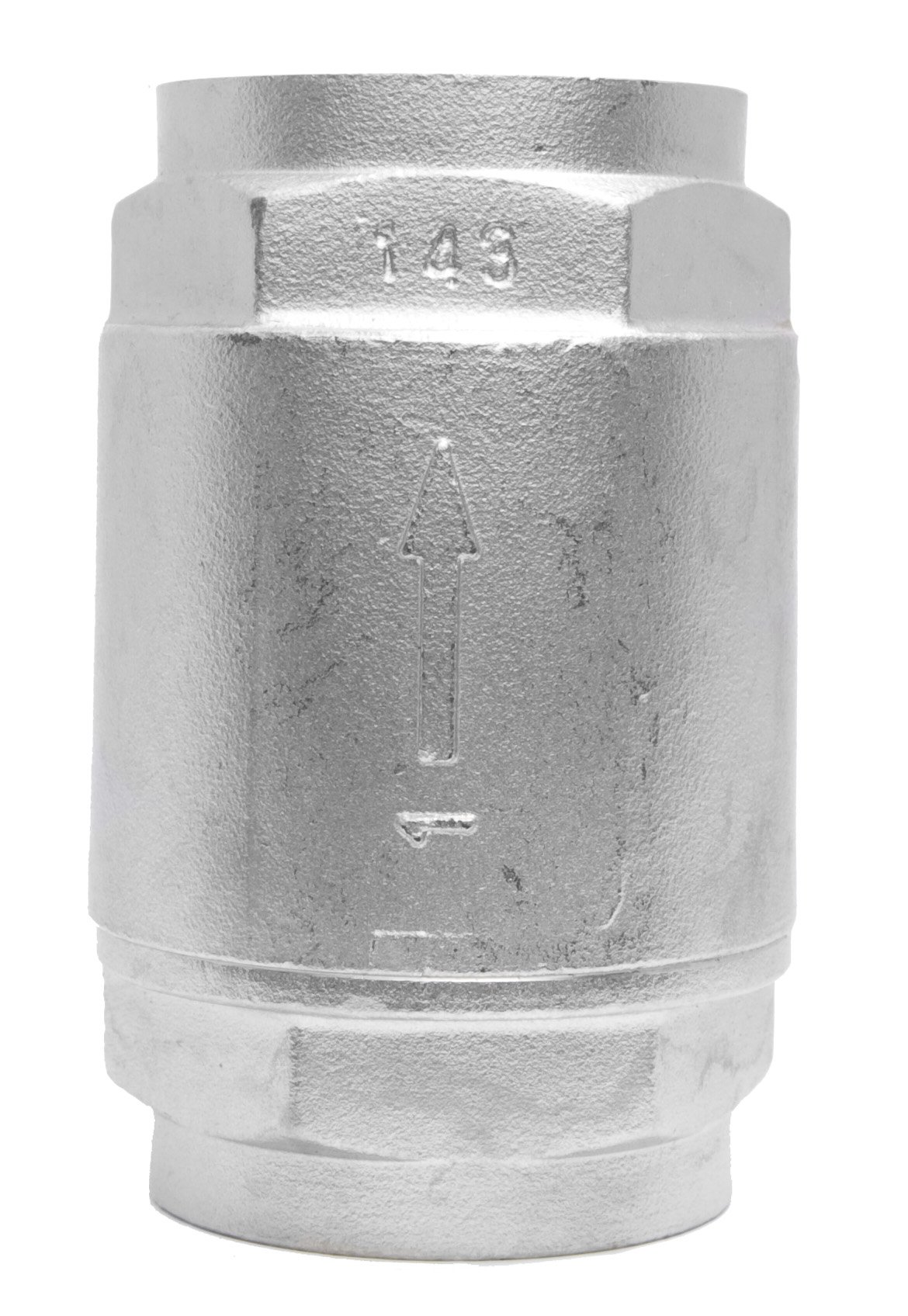 1'' Stainless Steel (316) in Line Spring Check Valve - 150 LB Class