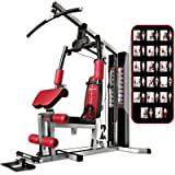 Sportstech unique 45in1 Premium Gym HGX100/HGX200 for countless training variations. Multifunctional homegym with Lat pulling tower,fitness station EVA made material-sturdy construction