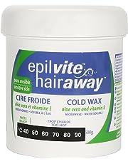 Epil-Vite/Hair Away - Cold Wax for Sensitive Skin, with Vitamin E & Aloe, 600g