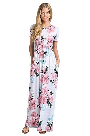 eca8cc8e986 Vanilla Bay Short Sleeve Maxi Dress at Amazon Women s Clothing store