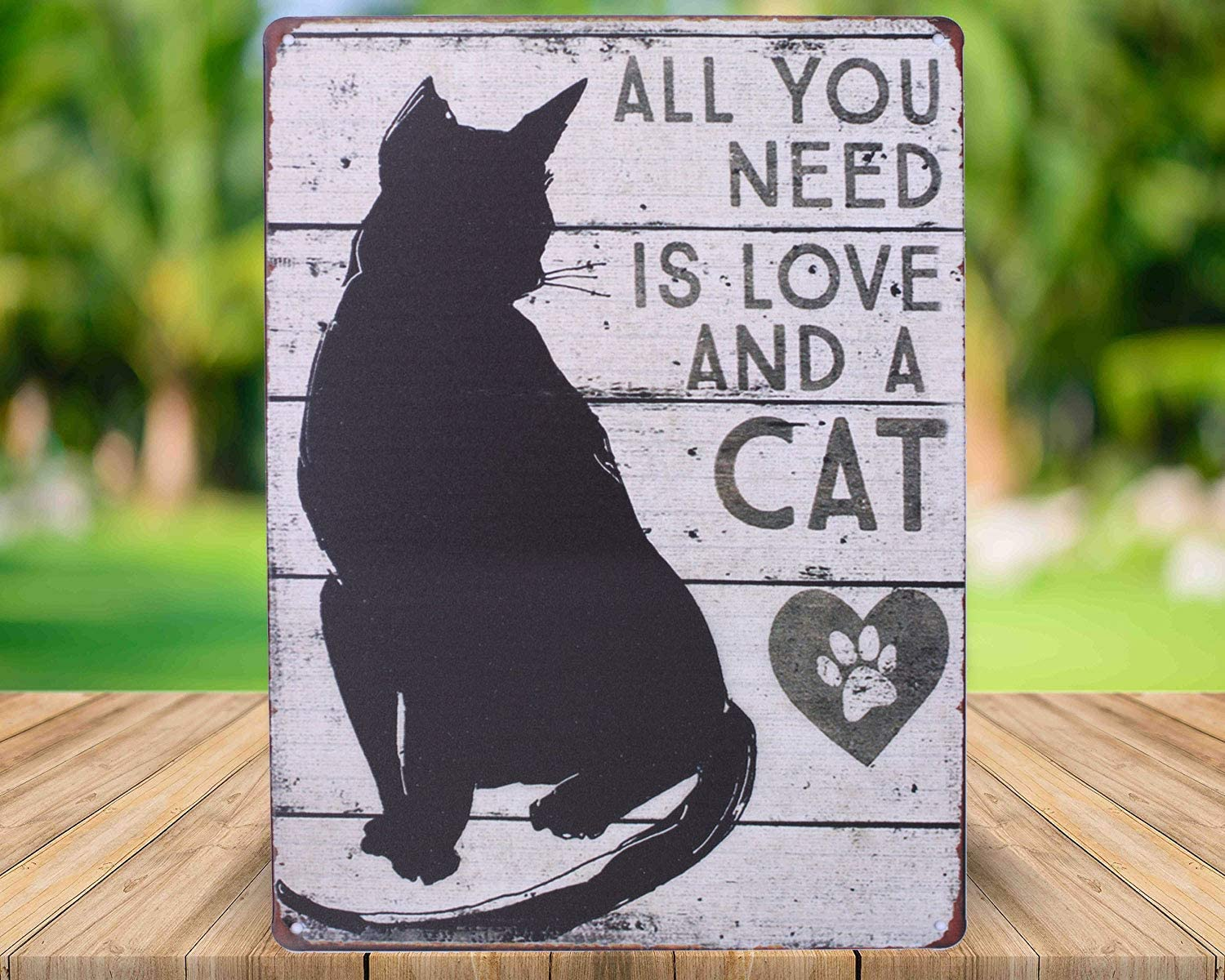 cat gifts cat gift cat owner gift for cat owner cat cat signs cat sign cat wall art all you need is love and a cat cat decor