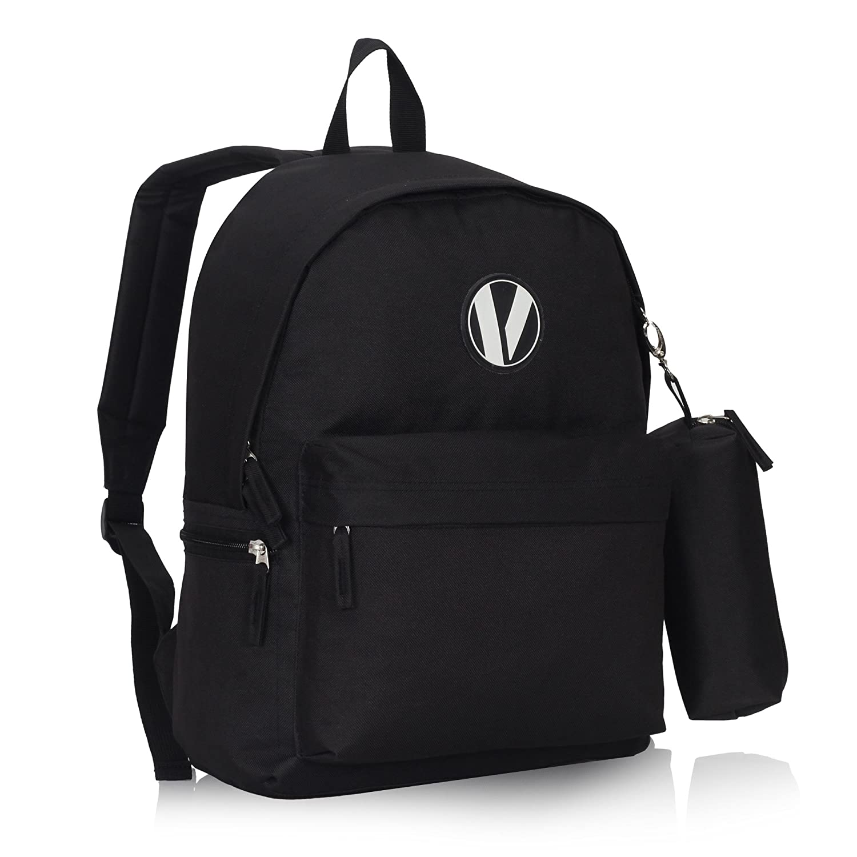 f1ed6b18dfde Veegul School Backpack Set with Pencil Case for Teens Boys Girls Black   Amazon.com.au  Fashion