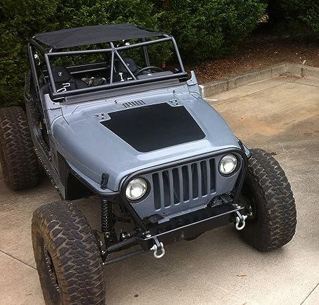 Jeep Matte Black >> Jeep Wrangler Tj 1997 2006 Blackout Hood Decal Matte Black Finish Anti Glare Stylish Sticker