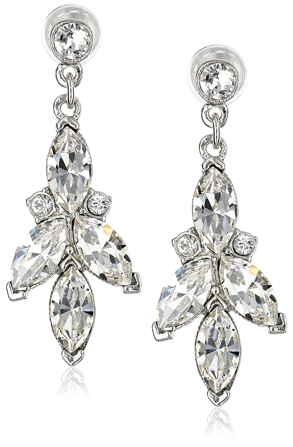 Amazon.com: Ben-Amun Jewelry Swarovski Crystal Drop Earrings for Bridal  Wedding Anniversary: Jewelry