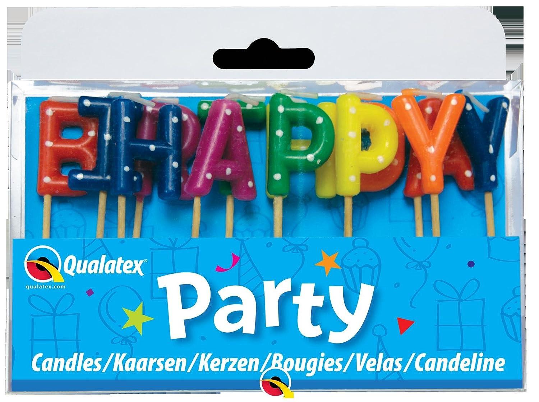 Amazon.com: Multi Color lunares feliz cumpleaños carta Pick ...