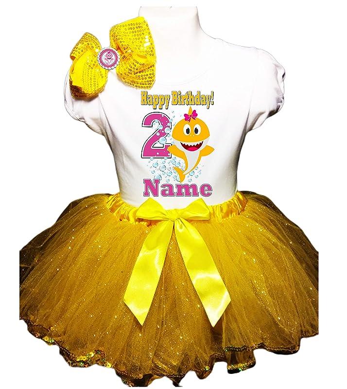 SpongeBob Birthday Tutu 6th Birthday Party Dress Yellow Tutu Outfit Shirt