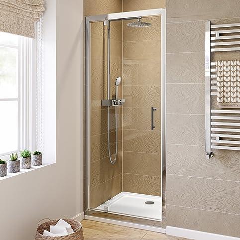 Amazon.com: 760mm Pivot Hinge 6mm Thick Glass Shower Enclosure ...
