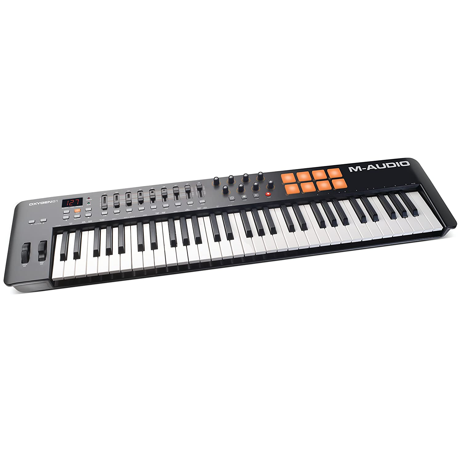 M-Audio Oxygen 61 IV | 61-Key USB/MIDI Keyboard with Eight Trigger Pads,  Studio Production/Performance Ready Controls Plus VIP 3 and Software  Package