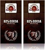 Chocolate & Me 82% Cocoa Dark Chocolate, 180 Grams (Pack Of 2)