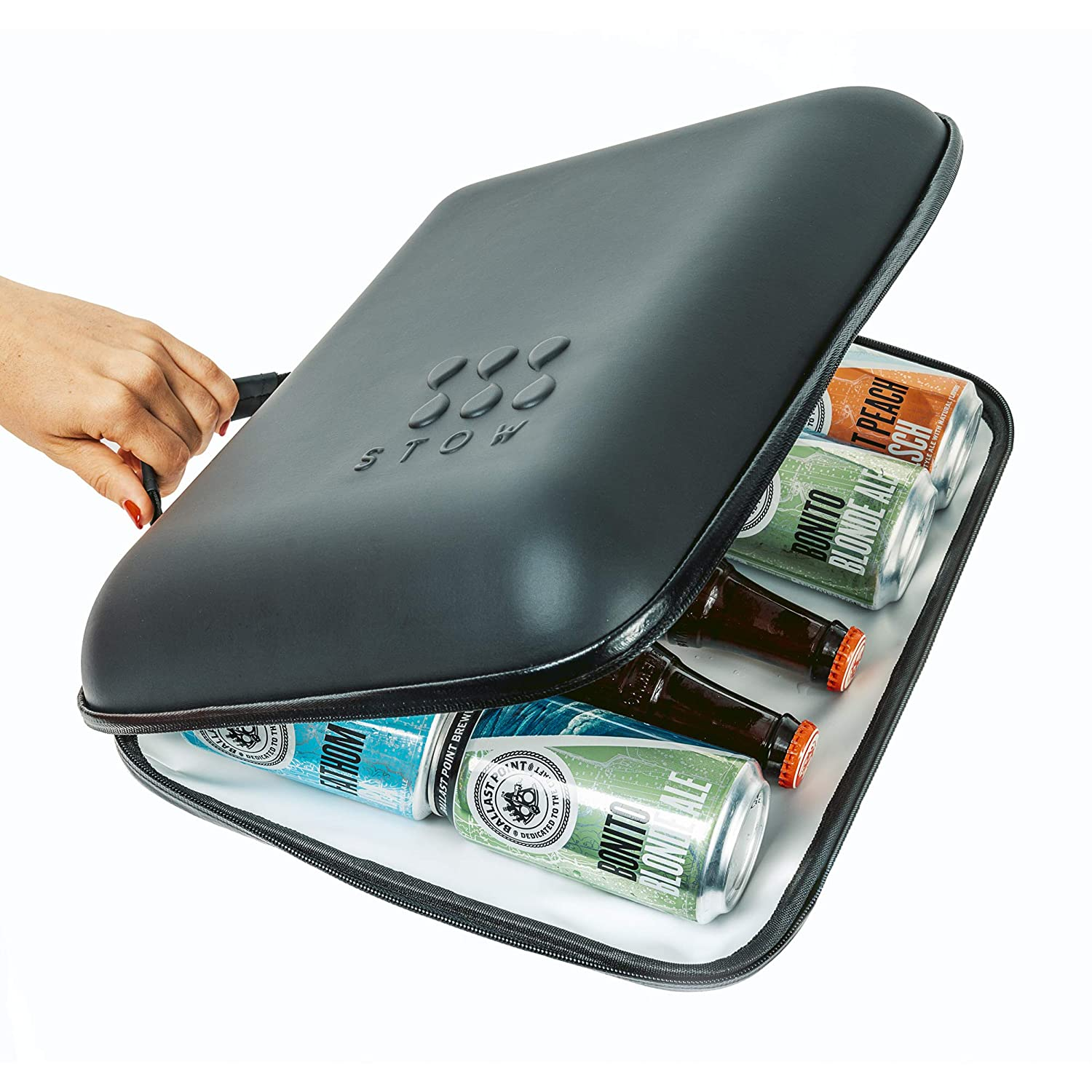 StowCo Small Wine Beer Portable Cooler. 5+ Hours Cold Drinks.