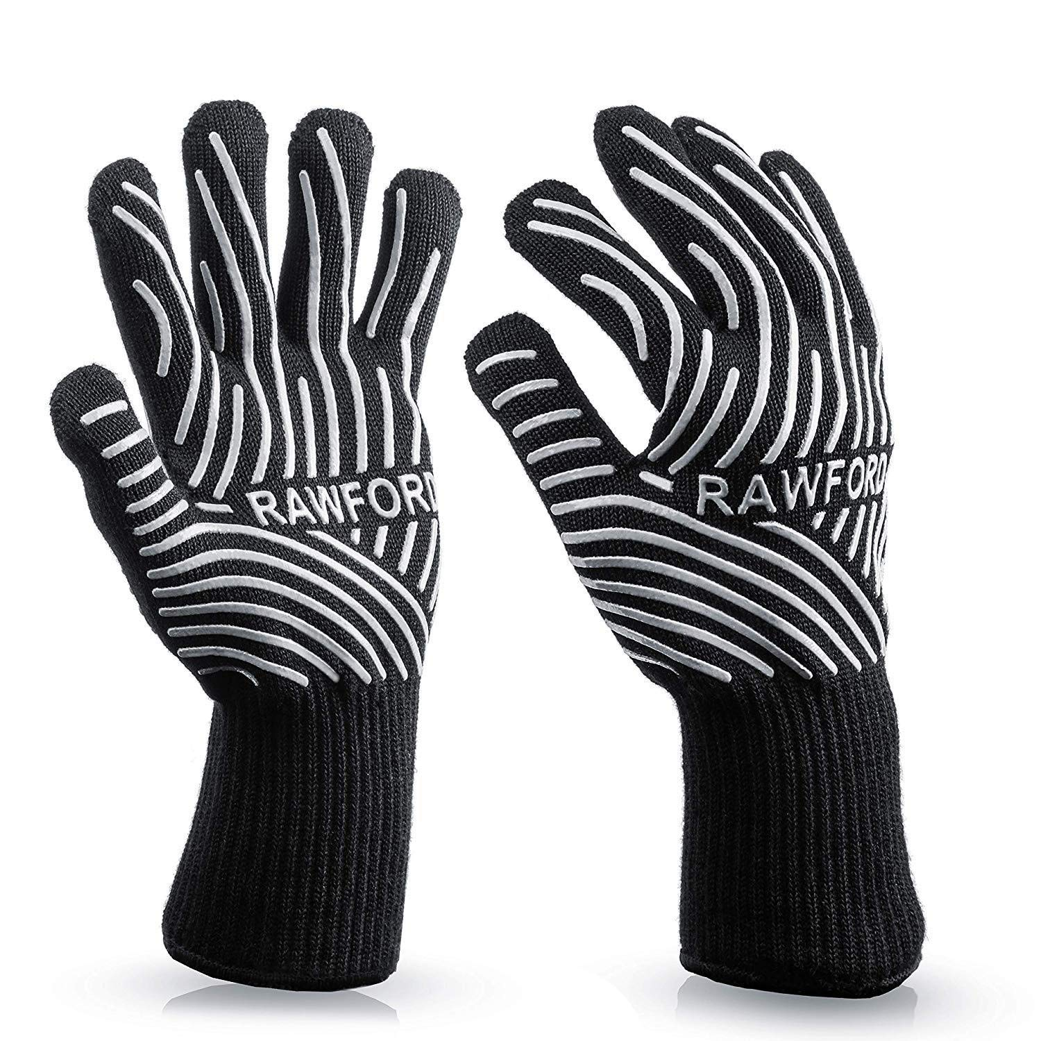 ZJYSM Comfortable, Wearable, Flexible, Lightweight, Amazon Explosion, 500-800 Degrees High Temperature Aramid Fire Retardant Microwave Oven BBQ Barbecue Gloves Gloves