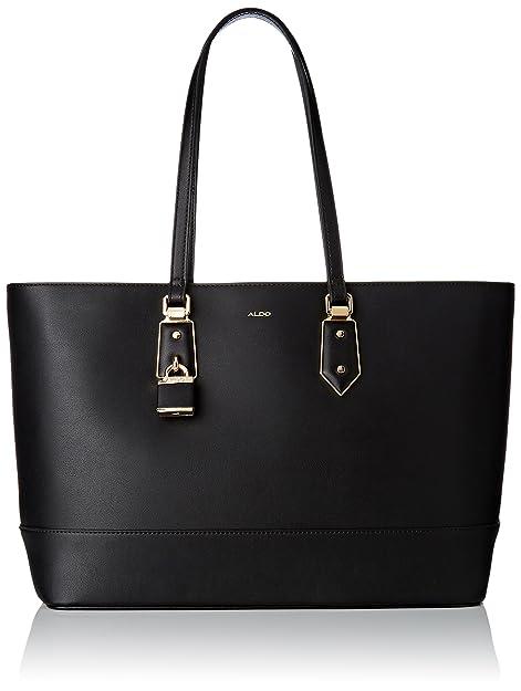 215b15bd372 ALDO Womens Synthetic Black Tote  Amazon.in  Shoes   Handbags