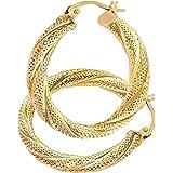Citerna 9 ct Yellow Gold UER 013Y Ladies Hoop Earrings