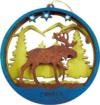 Canadian Moose Wood Christmas Decoration